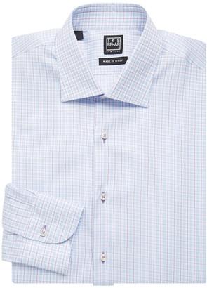 Ike Behar Ike By Regular-Fit Checkered Cotton Dress Shirt