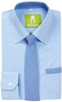Future Trillionaire Little Riot Solid Chambray Shirt & Tie (Toddler, Little Boys, & Big Boys)