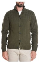 Sun 68 Men's Green Wool Cardigan.