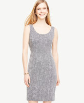 Ann Taylor Tweed Scoop Neck Sheath Dress