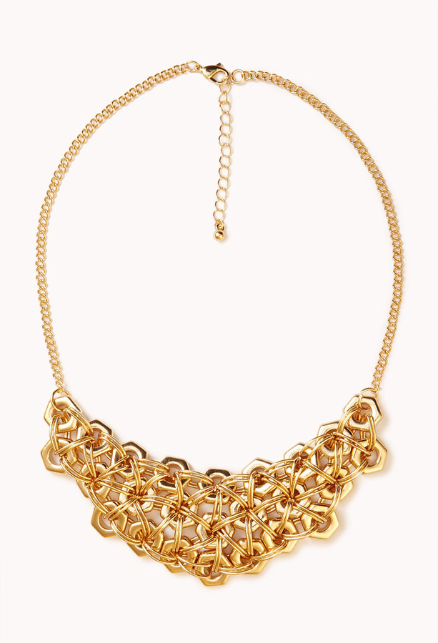 Forever 21 Heavy Metal Bib Necklace
