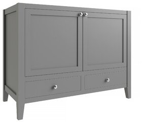 "CNC Costume National Cabinetry Vanguard 42"" Single Bathroom Vanity Base Only Cabinetry Base Finish: Dove Gray"