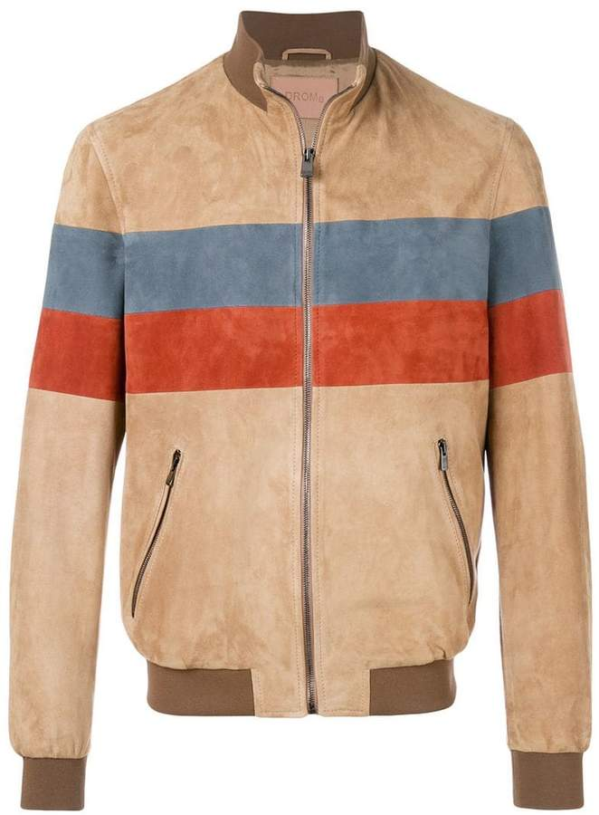 Drome stripe detail bomber jacket