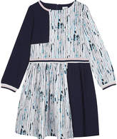 No Added Sugar Watercolour-striped fit and flare dress 4-12 years