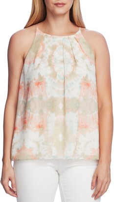 Vince Camuto Pleat Front Tie Dye Tank Top
