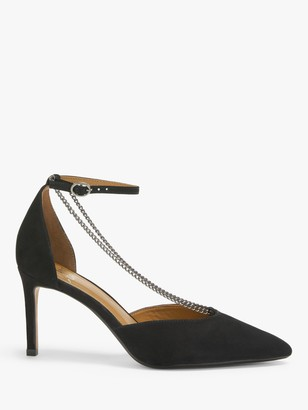 AND/OR Daphne Chain Embellished Court Shoes, Black