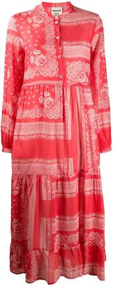 Semi-Couture Semicouture paisley patterned tiered dress