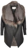 River Island Womens Dark grey lightweight fallaway coat