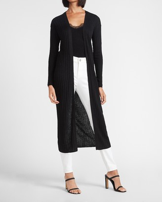 Express Long Ribbed Cardigan Duster