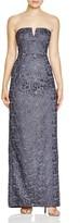 Aidan Mattox Bridal Strapless Lace Gown