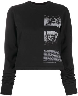 Rick Owens Contrast Print Sweatshirt