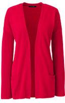 Classic Women's Cashmere Rib Cardigan Sweater-Vicuna Heather