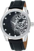 Ecko Unlimited The Face-off Leather Skull Dial Men's Watch #E09504G1