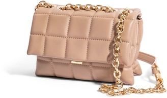 """House of Want """"H.O.W."""" We Slay Small Shoulder Bag In Taupe"""