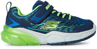 Skechers Toddler/Kids Boys) Navy & Lime Thermoflux 2.0 Running Sneakers