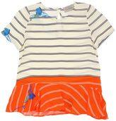 Preen Mini Freya Striped Printed Viscose Top