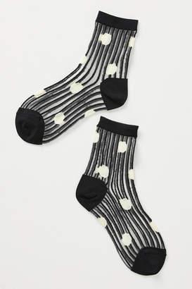 Hansel from Basel Dot Sheer Crew Socks