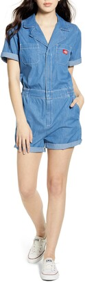 Dickies Cuffed Denim Romper
