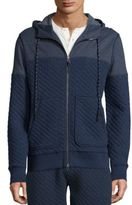 Surfside Supply Co. Quilted Zip-Front Hoodie