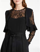 Somerset by Alice Temperley Lace Insert Top, Black