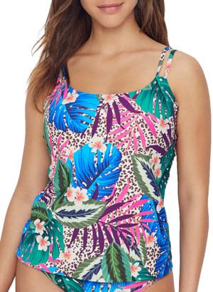 Sunsets Island Safari Taylor Underwire Tankini Top