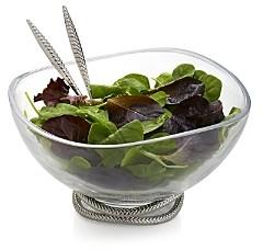 Nambe Braid Glass Salad Bowl & Servers