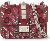 Valentino Embellished leather cross-body bag