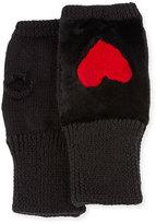 Jocelyn Knit Heart Fingerless Gloves