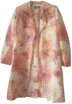 Salvatore Ferragamo Pink Cotton Coat for Women Vintage