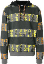J.W.Anderson flower print striped hoodie - men - Cotton/Polyester - M
