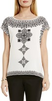 Vince Camuto Block Print Top