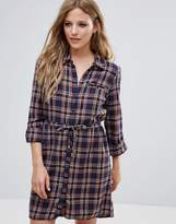Noisy May Erik Check Shirt Dress