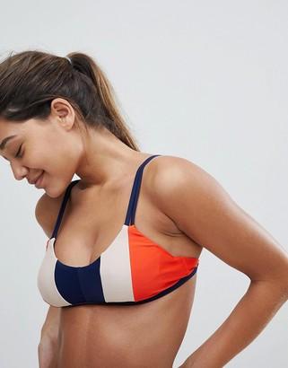 Y.A.S Colour Block Stripe Bikini Top