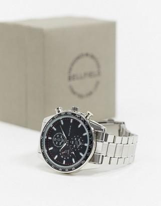 Bellfield mens bracelet watch with black dial