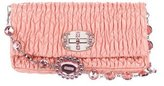 Miu Miu Patent Leather Matelasse Crystal Clutch