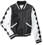 Diesel Girls 4-6x) Faux Leather Bomber Jacket