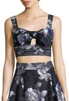 ABS by Allen Schwartz Tie-Front Cropped Bustier Top