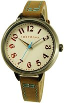 Tokyobay Tokyo Bay T360-BR Women's Trail Stainless Steel Brown Leather Band Dial Watch