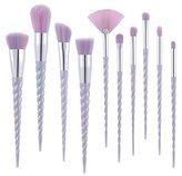 Nestling® Makeup Brush Set Cosmetics Foundation Blending Blush Eyeliner Face Powder Brush Kabuki Hair (12pcs Golden)