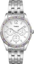 Timex Women's T2P386 Crystal Multi-Function Stainless Steel Bracelet Watch