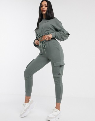 Couture The Club cargo style jogger in khaki