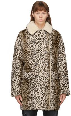 R 13 Tan Leopard Hunting Coat