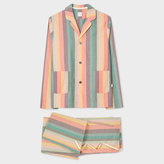 Paul Smith Men's Artist Stripe Cotton Pyjama Set
