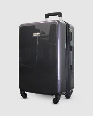 Jett Black Carbon Black Series Carry On Suitcase