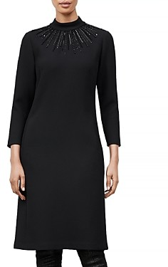 Lafayette 148 New York Adira Embellished Sweater Dress