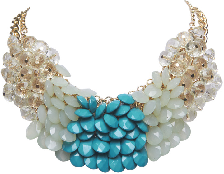 Arden B Colorblocked Faceted Bead Necklace