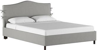 One Kings Lane Eloise Slipcover Platform Bed - Gray - frame, black; upholstery, gray