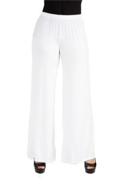 24Seven Comfort Apparel Women Comfortable Solid Color Palazzo Pants