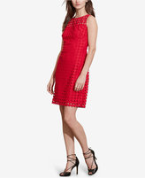 Lauren Ralph Lauren Geometric-Lace Sleeveless Dress