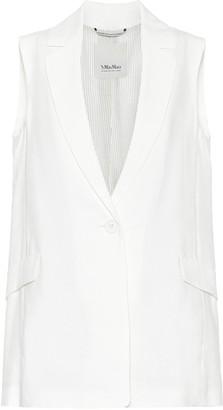 S Max Mara Hamburg linen-blend blazer